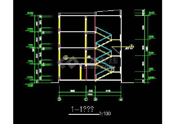 一套小学教学楼CAD建筑设计施工小学家长v小学图纸图片