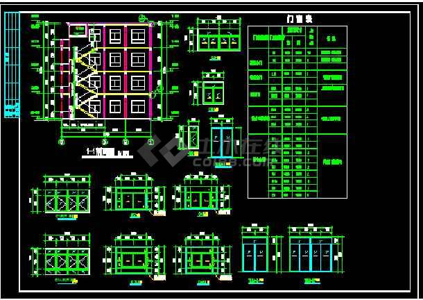 一套实用简单的三层图纸农村建筑设计图_cad看计算工程量住宅时懂怎么图片