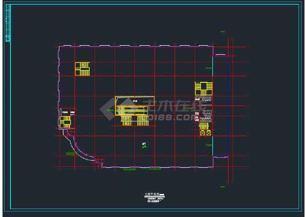 淮南某办公商厦总平面及各层平面设计图-图2