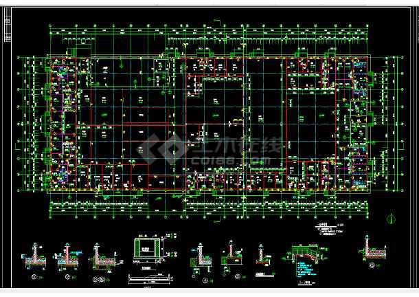 某地区某工业冷库建筑设计cad图纸图片