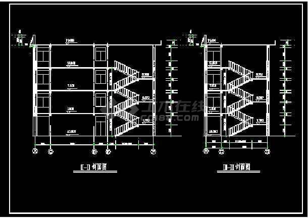 内容包括:屋顶平面图,楼梯三层平面图,四层平面图等,内容详实,可供