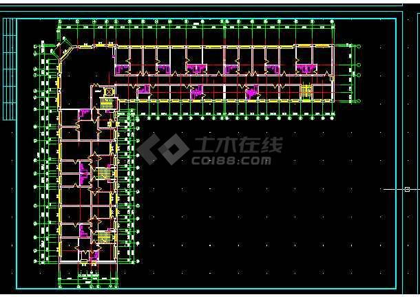 军分区综合楼建施设计方案全套CAD图纸-图2