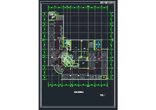 广州某处某国际大厦建筑方案CAD全套设计图-图1