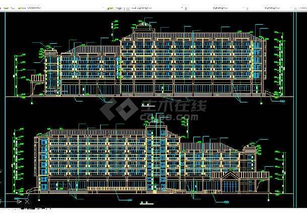 度假中心建施设计施工方案全套CAD图纸-图1