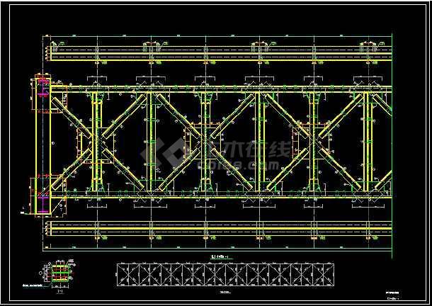 60米跨度管状输送机栈桥钢结构设计施工图