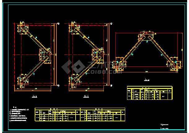 60米栈桥跨度输送机管状钢结构设计施工图设计飞控图片
