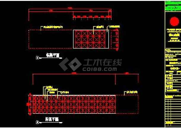 某地小型保安亭入口建筑设计图(共4张)-图2