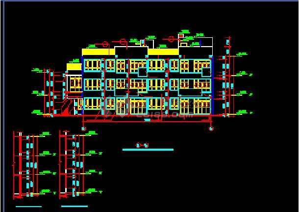 某幼儿园设计cad建筑施工平面图纸