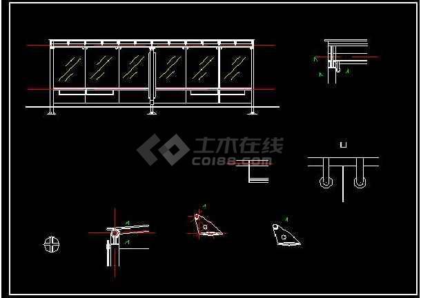 某地小型公交车亭建筑设计图.(标注详细)-图1