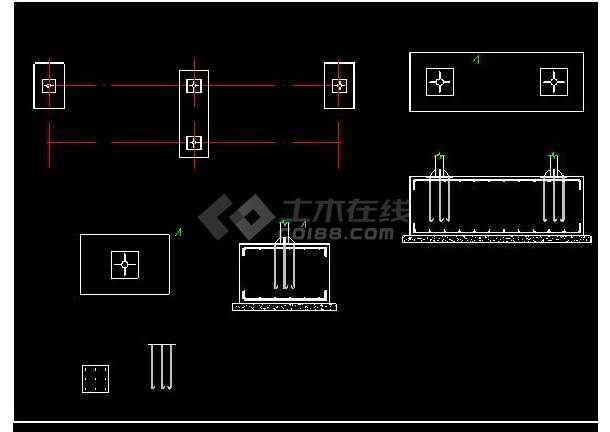 某地小型公交车亭建筑设计图.(标注详细)-图2