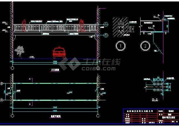 某地小型钢结构通廊建筑设计图(含设计说明)-图2