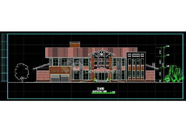 某两层独立别墅方案设计CAD详情图-图1