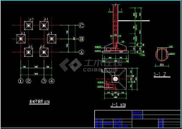 某地小型古建六角亭建筑施工图(共5张)-图2
