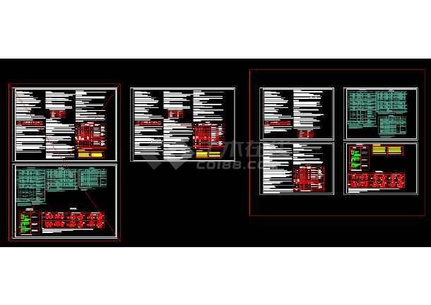 某双联别墅建筑施工全套设计CAD图纸-图2