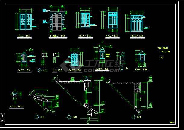 景区艺术钟楼设计方案全套CAD图纸-图2