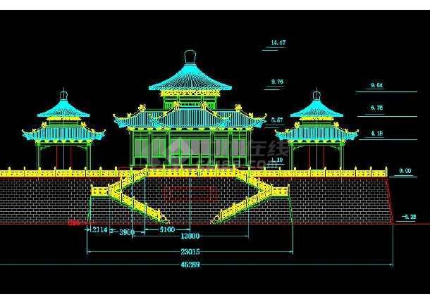 某地小型碑亭建筑施工图(共4张)-图1