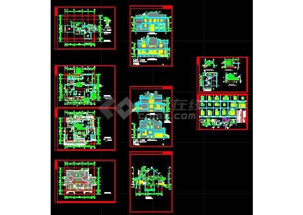 两套别墅方案设计CAD详图带效果图-图1