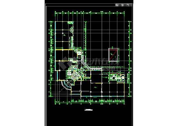 某国际大厦建筑设计施工方案全套CAD图纸-图1
