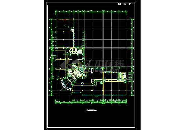 某国际大厦建筑设计施工方案全套CAD图纸-图2