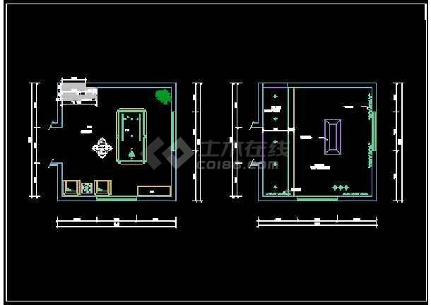 双桂湖某别墅设计方案CAD详情图纸-图2