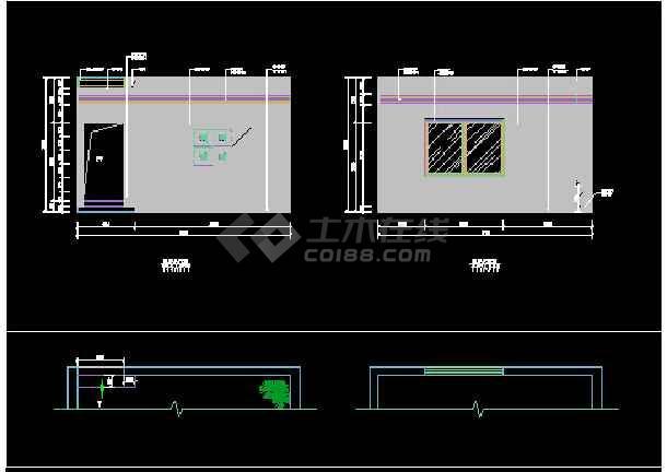 双桂湖某别墅设计方案CAD详情图纸-图3