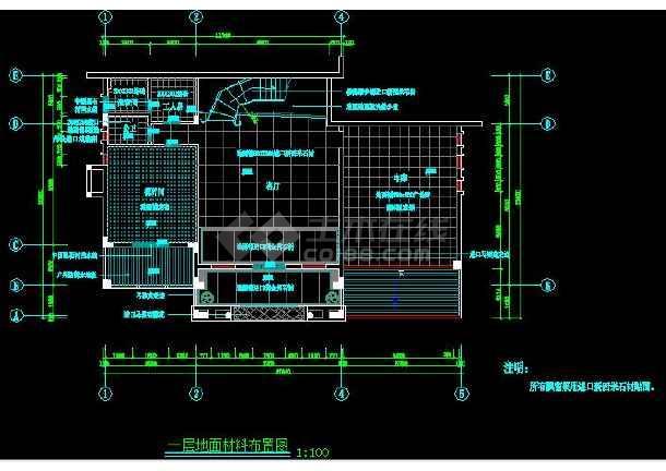 某市小区别墅样板间装修设计竣工图(全套)-图2