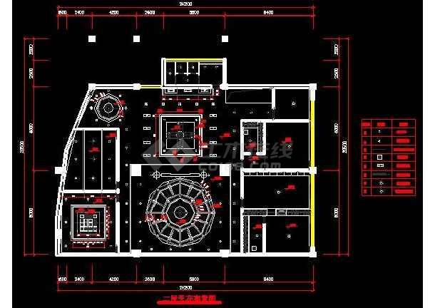 某地区浅塘别墅装修设计图纸(全套)-图2