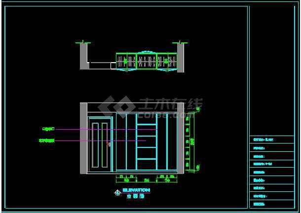 一套超现代风格三室二厅装修图纸(含效果图)-图1