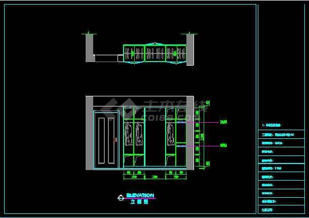 一套超现代风格三室二厅装修图纸(含效果图)-图2