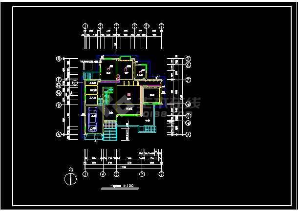 一套复式装修施工图纸(含效果图)-图2