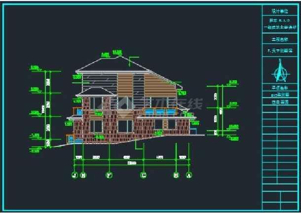 三层日式别墅全套建筑施工CAD详图-图1