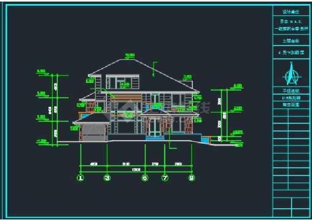 三层日式别墅全套建筑施工CAD详图-图2