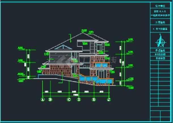 三层日式别墅全套建筑施工CAD详图-图3