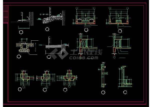 收费站建筑施工设计方案全套CAD图纸-图1