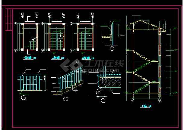 收费站建筑施工设计方案全套CAD图纸-图2