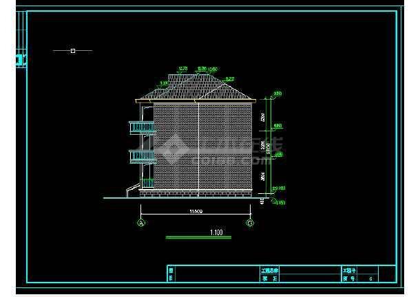 竞赛图纸建筑施工CAD设计方案宋体_cad房屋cad缺少图纸图片