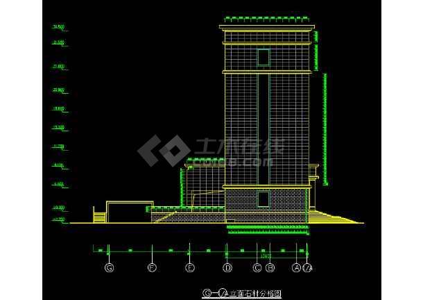 某地办公楼干挂方案幕墙v方案图纸石材图纸THDTHRU图片