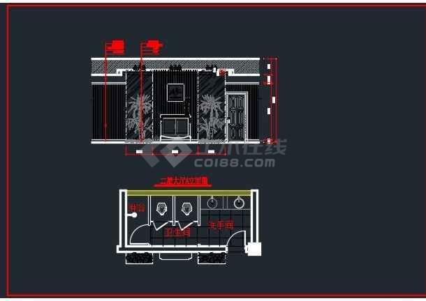 浅塘某别墅全套装修设计CAD详图-图1