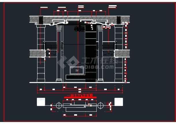 浅塘某别墅全套装修设计CAD详图-图2