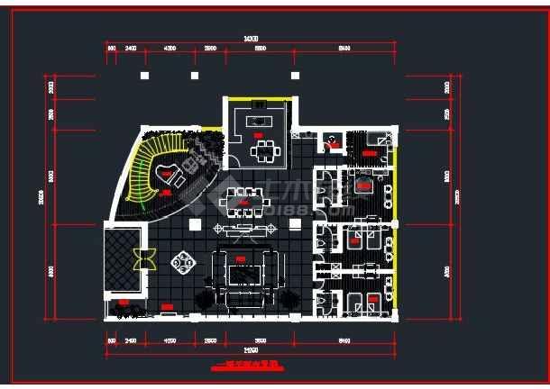 浅塘某别墅全套装修设计CAD详图-图3