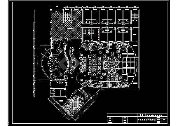 某二层流行元素迪厅室内建筑CAD设计图纸-图1