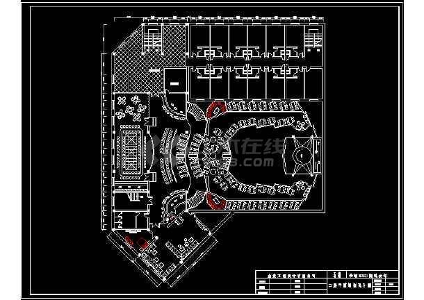 某二层流行元素迪厅室内建筑CAD设计图纸-图2