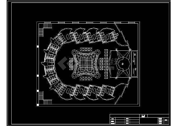 某二层流行元素迪厅室内建筑CAD设计图纸-图3