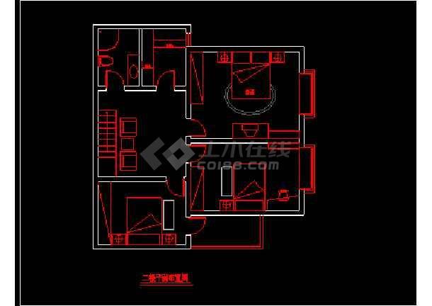 一套粉红色别墅家装施工图附效果图纸-图1