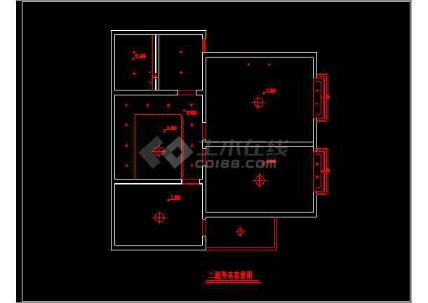 一套粉红色别墅家装施工图附效果图纸-图2