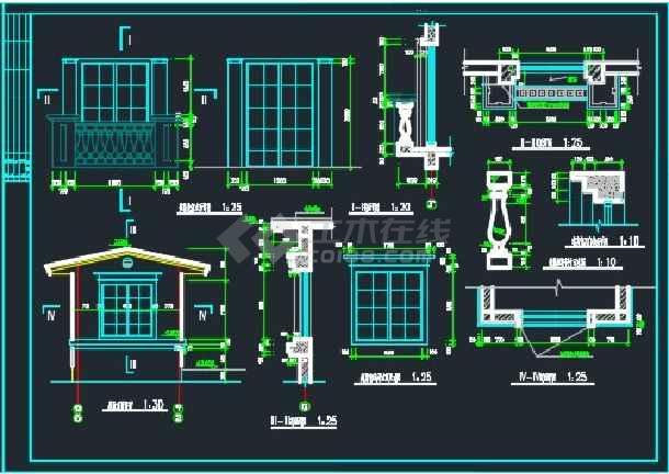 某双拼别墅建筑设计CAD详情全套图纸-图3