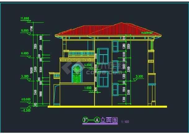 某水岸豪宝石A型别墅设计CAD详图-图1
