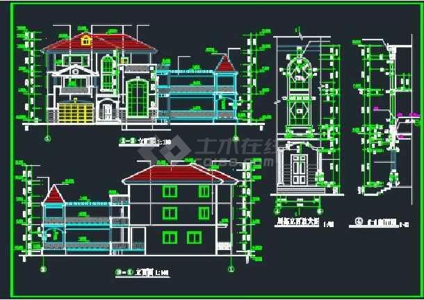全套别墅建筑施工设计CAD详情图-图1