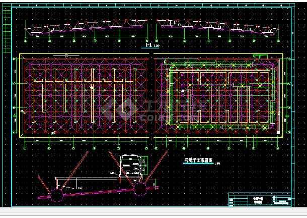 体育馆建筑设计方案全套CAD图纸-图1