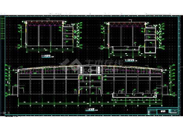 体育馆建筑设计图纸方案CAD图纸全套四轮车的做图片